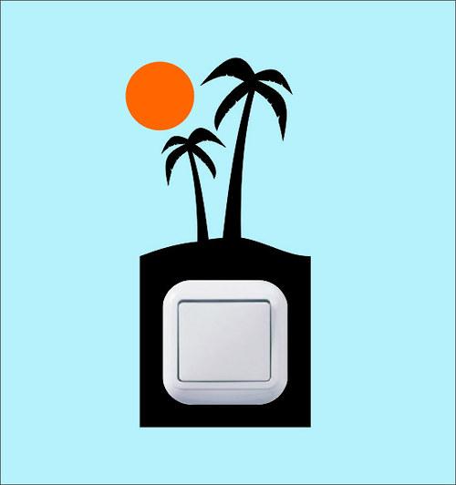Samolepka k vypínači - Ostrov