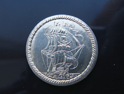 Pirátská mince Ag 925/1000