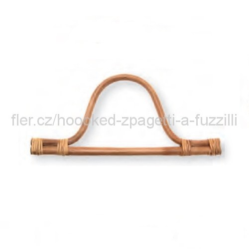 Ucho na tašku Hoooked, pár -30x14cm, bambus světlý