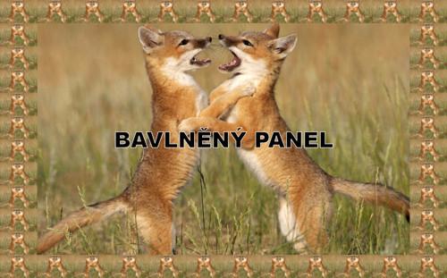 bavlněný panel 14,5 x 23 cm