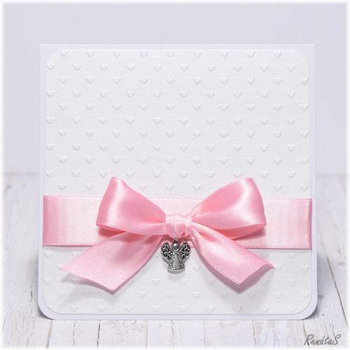 Přání / pozvánka - Andělíček v růžové
