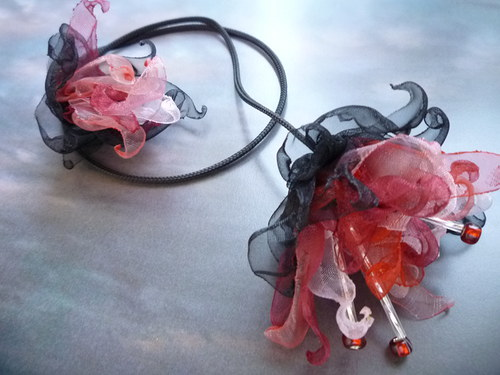 Fuchsie plnokvětá - náhrdelník