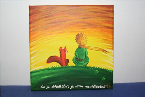 """Malý princ a \""""jeho\"""" liška 20x20 :-)"""