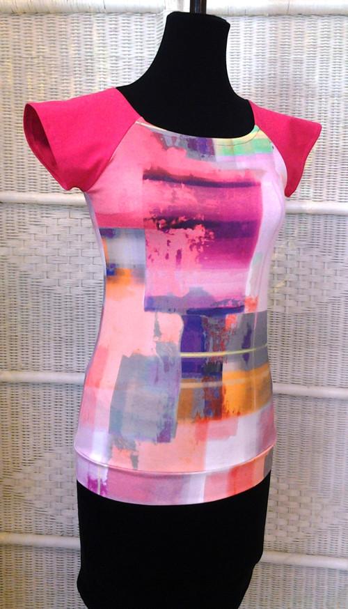 Pink abstrakt t-shirt