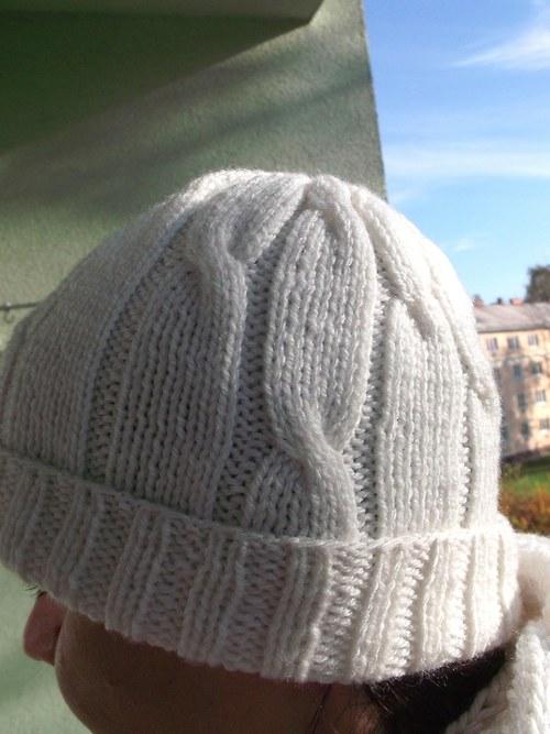 Čepice Bílá zima