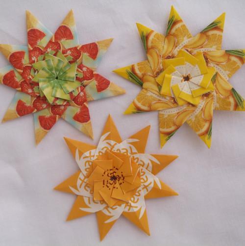 Čajové hvězdy - sada žlutá 2.