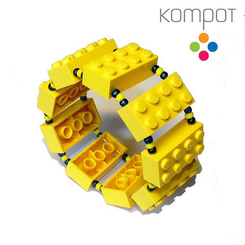 LEGO náramek :: žlutý