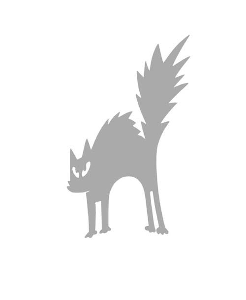 Nažehlovačka - reflexní naježená kočička