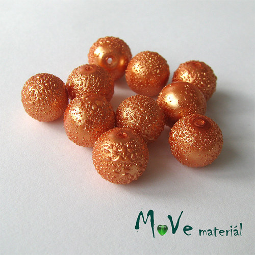 "Voskové perle \""Zigana\"" 10mm, 10ks, oranžové"