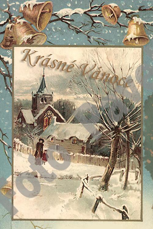 Vintage motiv - vánoce 26