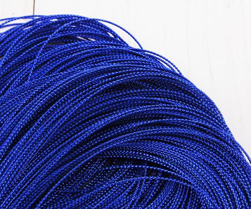 30m 98ft 32yrd Modrá Metalíza Závit Kabel Twisted