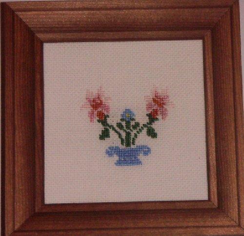 Vyšívaný obrázek - váza
