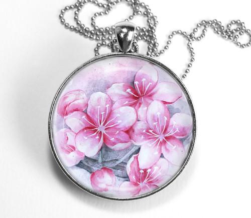 Sakura - autorský náhrdelník - velký