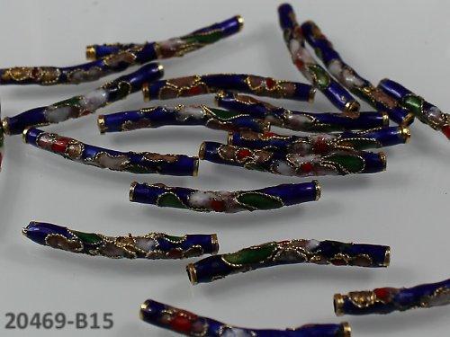 20469-B15 Cloisonne trubička 28/3mm - NIVEA, á 1ks