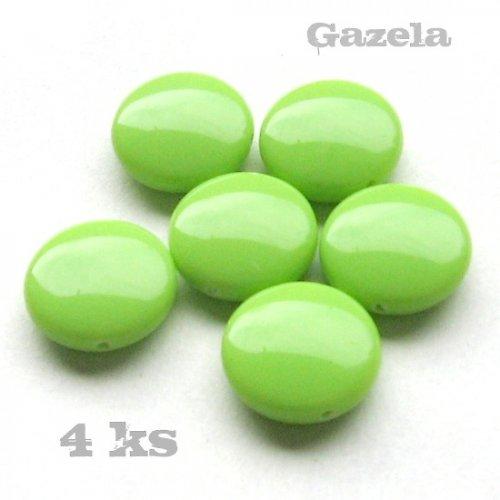 Čočky světle zelené - 4 ks