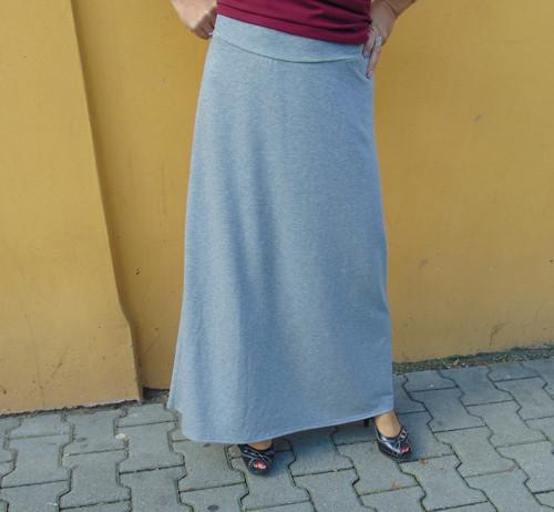 dlouhá sukně barva šedý melír