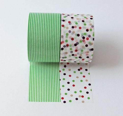 Japonské lepící pásky extra široké 2ks_zelená