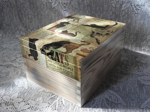 Krabice vysoká - krása dřeva  kočky