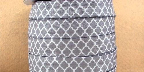 Pruženka/guma š. 16 mm: Tile šedá
