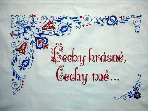 Vyšívaná kuchařka - Čechy krásné