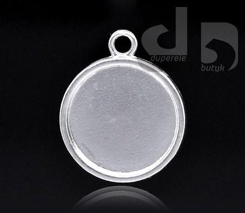 Stříbrný přívěšek kolečka, lůžko na pryskyřici