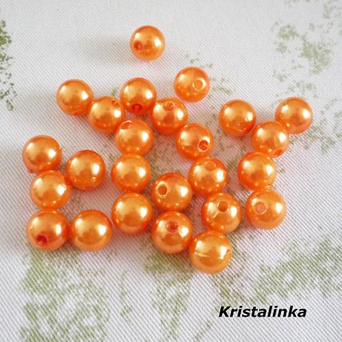 Perličky oranž syté...10mm