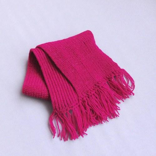 VÝPRODEJ - Růžovofialová šála (72 cm)
