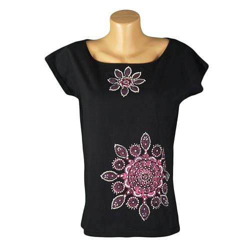 Dámské tričko s růžovou mandalou