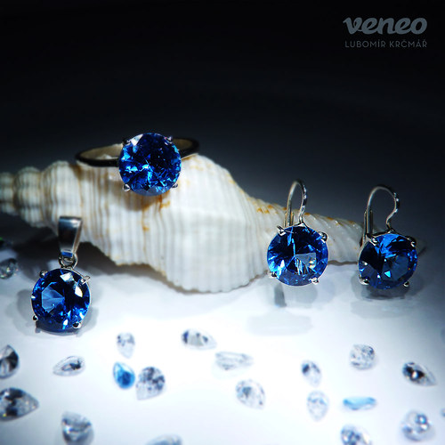 Diana 10 - sada šperků s topazy
