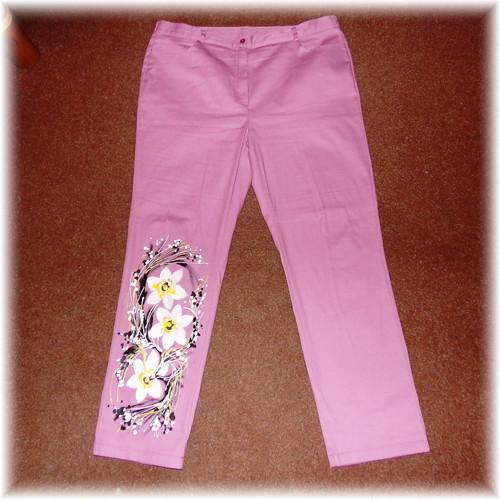 Kalhoty pudrovky-malované-velké