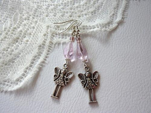 Náušnice - Andělky pro štěstí