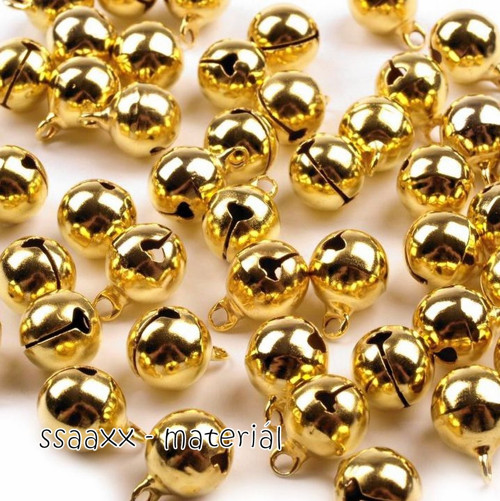 Rolnička ~ 8mm ~ zlatá ~ 10ks