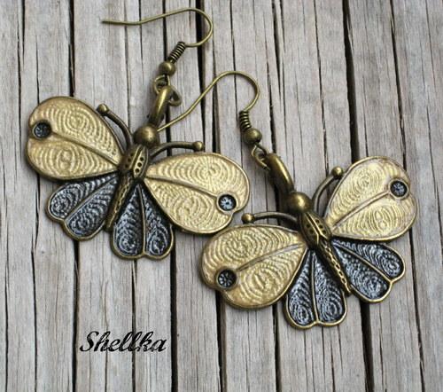 Náušnice motýlkové 10