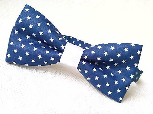 Night stars bow tie