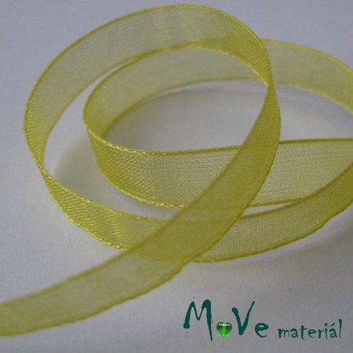 Šifónová stuha citronově žlutá 6mm, 1m