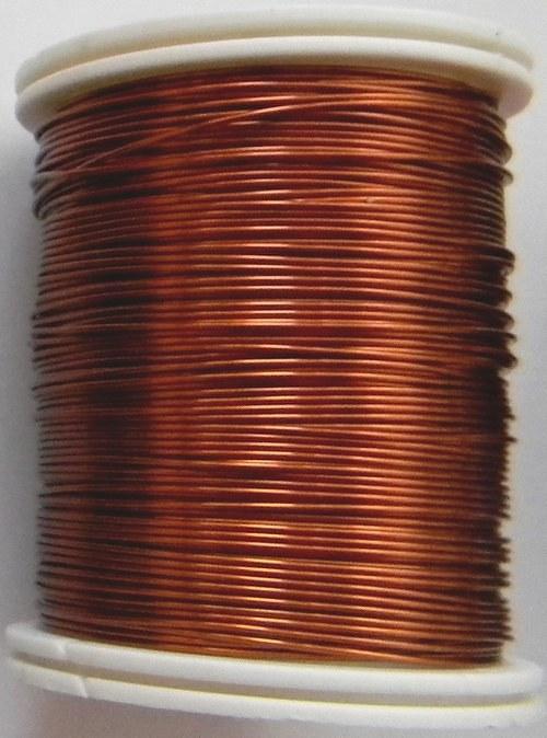 Měděný lakovaný drát 0,8 mm hnědo-zlatý