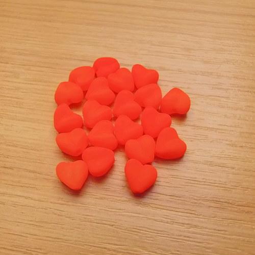 Neonová srdíčka 8mm - oranžová
