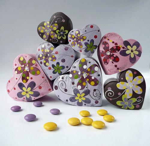 Láskobal velký - fialový s kytkami