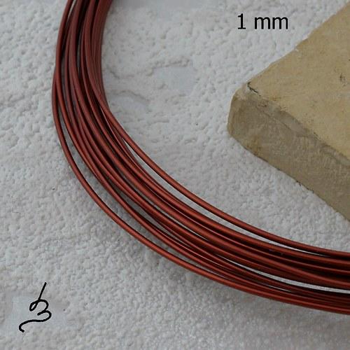 Měděný drát 1 mm lakovaný - 5 m