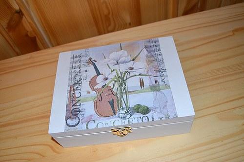 Krabička na čaj, šperkovnice - koncert