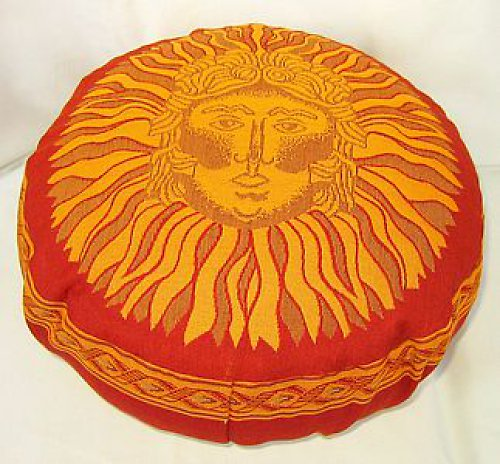 Taburetka červená Slunce,špaldové slupky,10 cm