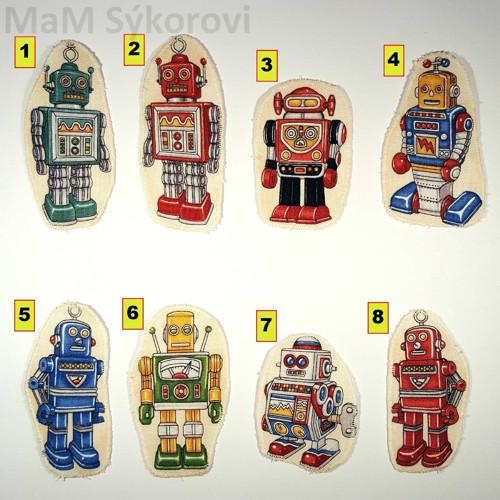 Nažehlovací záplaty roboti různí
