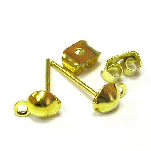 Zlaté naušnice - 1 pár i s puzetou