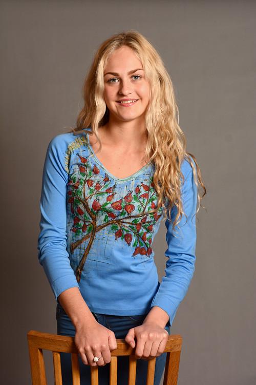 Dámské modré triko - M