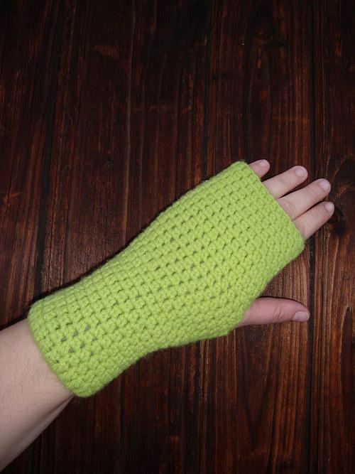 Bezprstové rukavice zelené