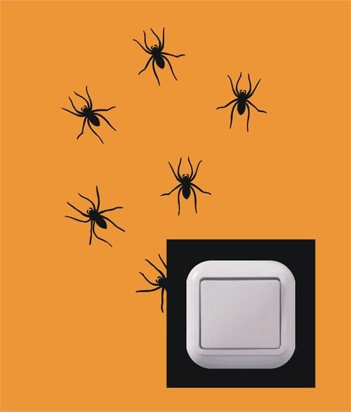 Samolepka k vypínači - Pavouci