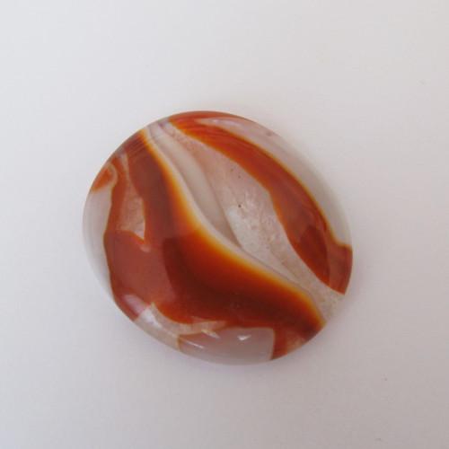 Kabošon skleněný oranžový