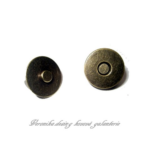 Magnetický buldok - 14 mm staromosaz sada 5 ks
