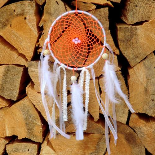 Lapač snů  - Oranž * amulet s Měsíčním kamenem