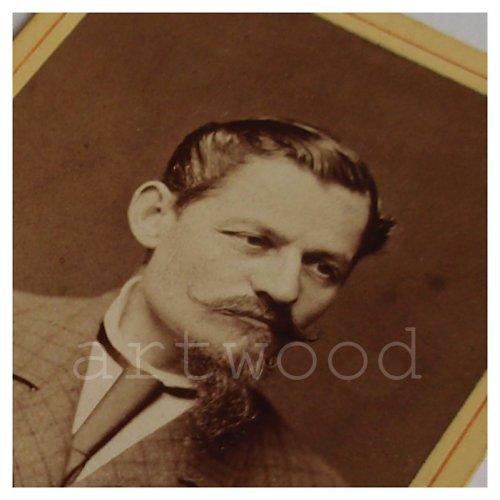 Kabinetní fotografe pán s knírem a bradkou č. 1085